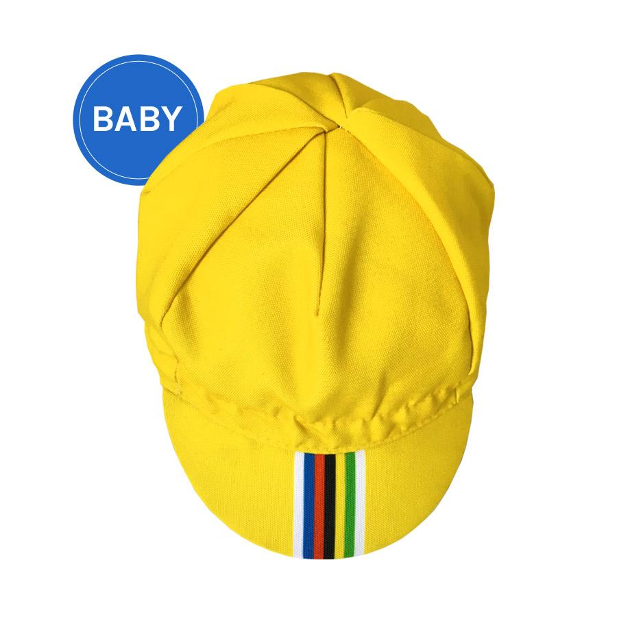Gapette Champion jaune pour bébé vue du dessus