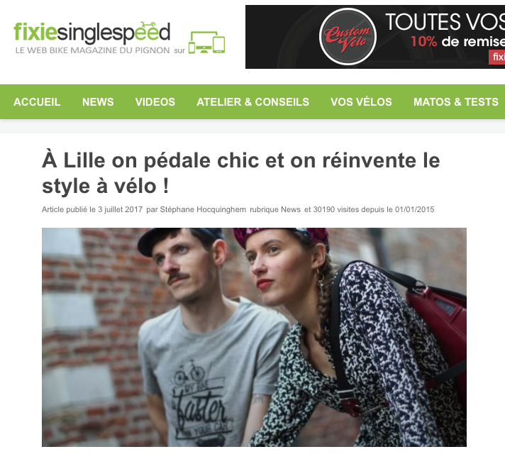 article fixie gapette cycle chic lille