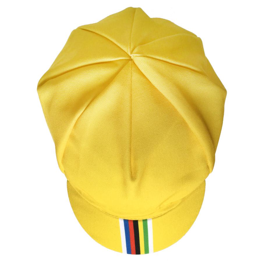 Casquette vélo sport jaune champion du monde