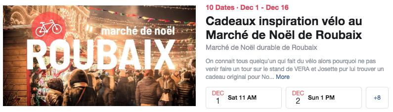 Marché de Noël de Roubaix décembre 2018 idée cadeau vélo