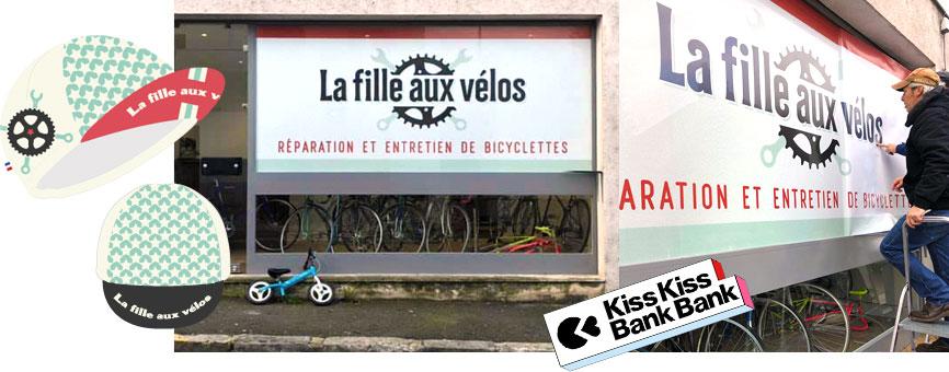 La Fille aux Vélos Kiss Kiss bank bank