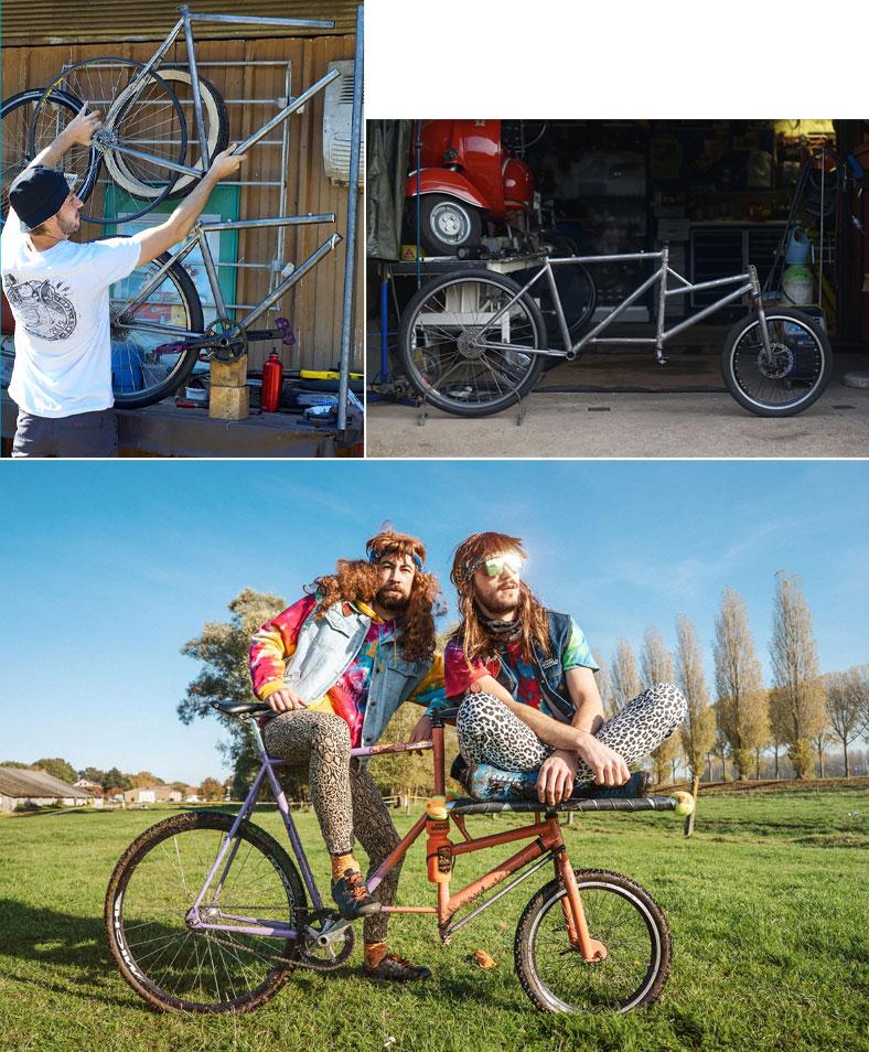 Power Fanger le duo infernal sur leur vélo cargo