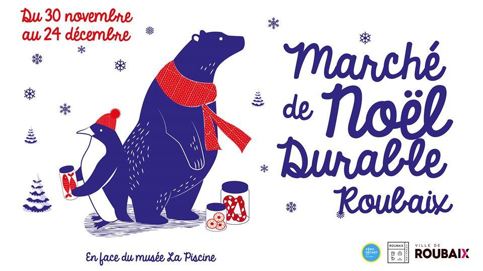 Affiche Marché de Noeël durable de Roubaix