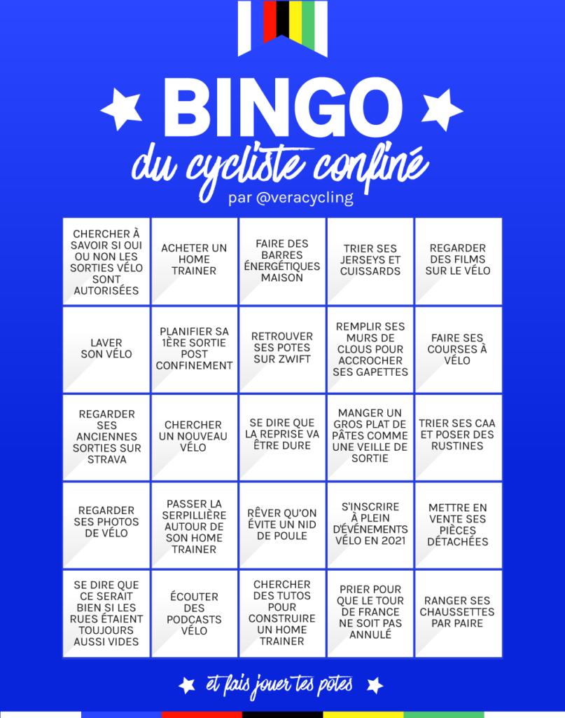 Bingo du cycliste confiné