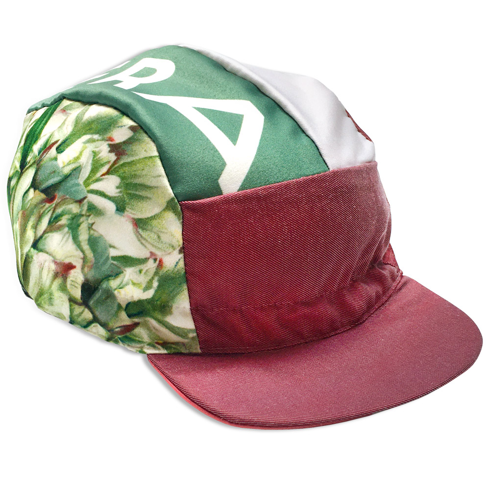 Rosewood Pink 5 panel Cycling Cap