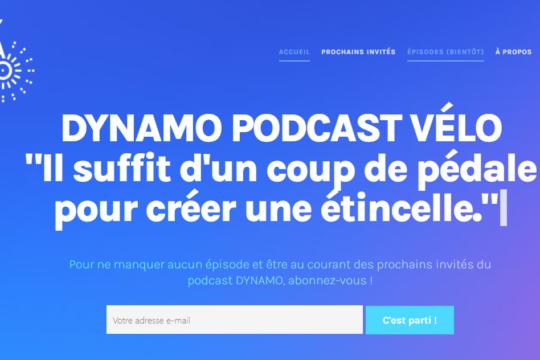 podcast vélo dynamo, le site